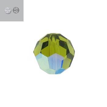 6MM OLIVINE AURORE BOREALE 5000 SWAROVSKI BEAD SOLD BY PACK
