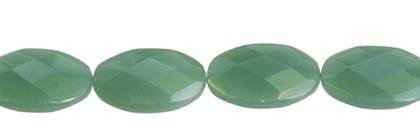 24X30MM OVAL FACETED AVENTURINE BEAD