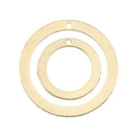 Gold Filled Round Loop Flat Sheet Charm