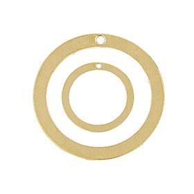 14K Round Loop Charm