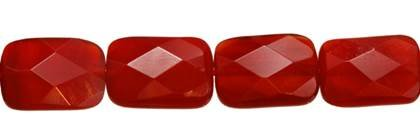 10X14MM RECTANGLE FACETED RED AGATE BEAD