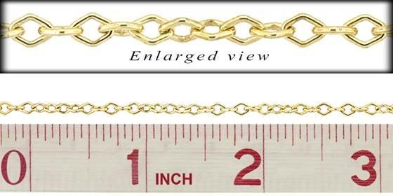 gf 3.0mm chain width diamond shape chain