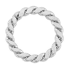 sterling silver 14.5mm braided closed jump ring