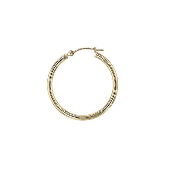 14K 2MM ROUND HOOP EARRING 26057-14K