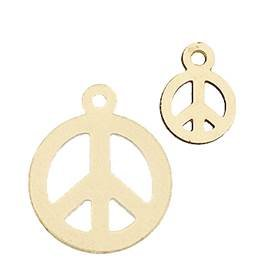 Gold Filled Peace Flat Disc Charm