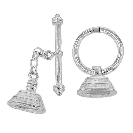 sterling silver fancy toggle clasp with extension