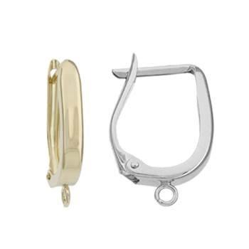 14K U Leverback Plain Earring (M)