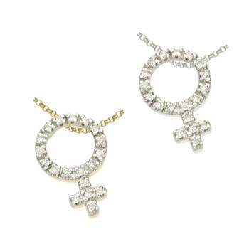 14K Diamond Female Sign Charms