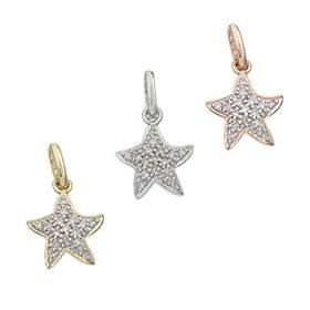 14K Diamond Starfish Charms