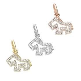 14K Diamond Horse Charms