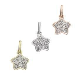 14K Diamond Star Charms
