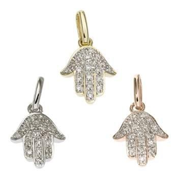 14K Diamond Hamsa Charms