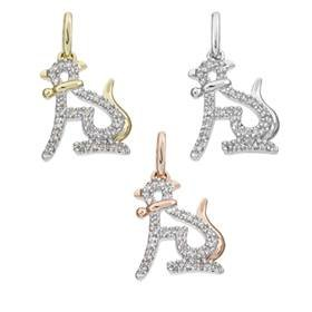 14K Diamond Leopard Charms