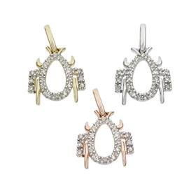 14K Diamond Spider Charms