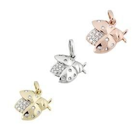 14K Diamond Cicadas Charms