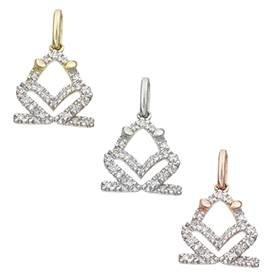 14K Diamond Frog Charms (A)