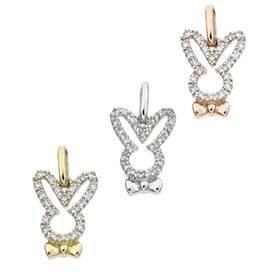 14K Diamond Rabbit Charms