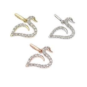 14K Diamond Duck Charms