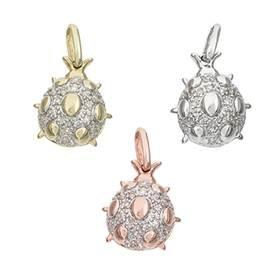 14K Diamond Ladybug Charms