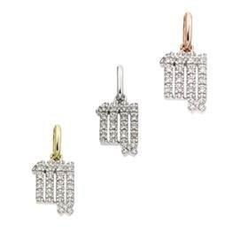 14K Diamond Virgo Charms
