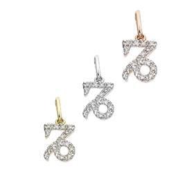 14K Diamond Capricorn Charms