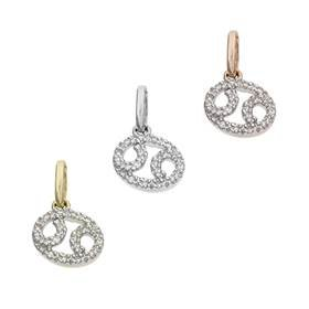 14K Diamond Cancer Charms