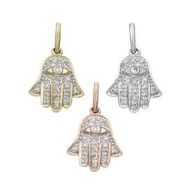 14K Diamond Hamsa Charms (B)