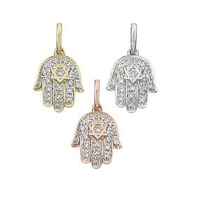14K Diamond Hamsa Charms (C)