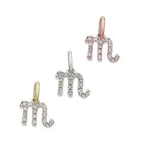 14K Diamond Scorpio Charms