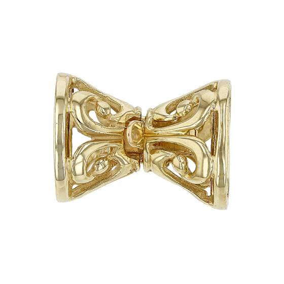14ky hollow bow clasp
