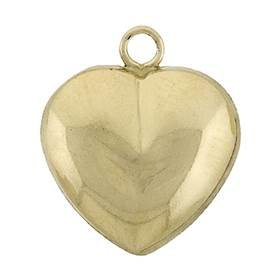 Gold Filled Puffy Hearty Heart Charm