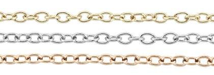 14K Gold Chain 1.20mm Width Round Cable Chains