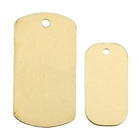 Gold Filled Flat Sheet Dog Tag Charm