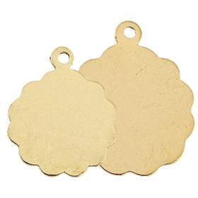 Gold Filled Fancy Flat Disc 14mm Charm