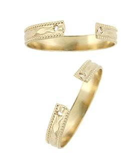 Gold Filled Milgrain Ring Shank