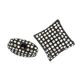 rhodium sterling silver 11mm 1.22cts diamond pillow bead