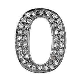 rhodium sterling silver 12x15mm 32pts diamond flat-0 connector