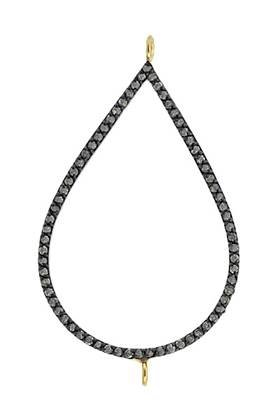 rhodium sterling silver 63pts 43x29mm diamond pear connector