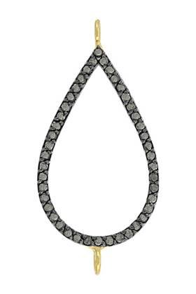rhodium sterling silver 39pts 29x18mm diamond pear connector