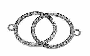 rhodium sterling silver 73pts 30x18mm diamond oval centerpiece