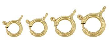 18KY Open Ring Springring Clasp