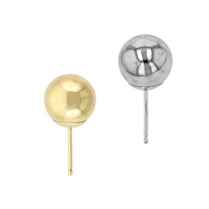 14K Gold Ball Stud Heavy Weight Earring