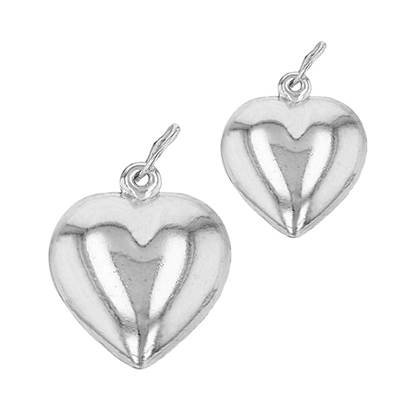 Sterling Silver Puffy Heart Charm 8mm