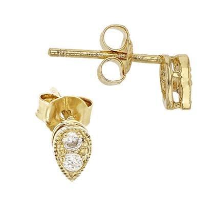vermeil 5.5x4mm pear shape earring