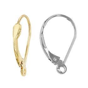 14K Plain Leverback Earring (E)