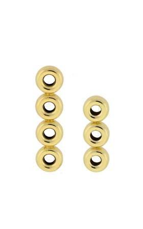 14K Roundel Bead Divider 4mm beads