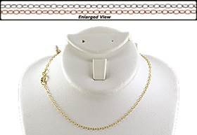 14K Ready to Wear 1.6mm Flat Cable Chain Necklace With Springring Clasp