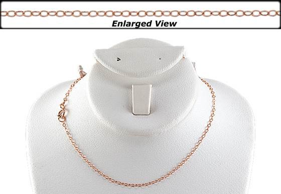 14kr 16 inches ready to wear flat cable chain with springring clasp