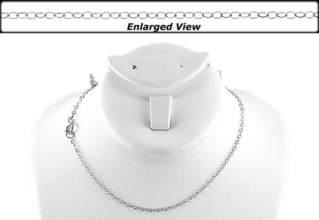 14kw 16 inches ready to wear flat cable chain necklace with springring clasp