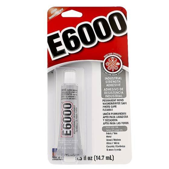 e-6000 multi-purpose adhesive industrial strength clear color cure 0.5 fluid ounces 10 minutes bonds